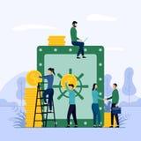 Geldeinsparung, Finanzinvestition, Geschäftskonzept-Vektorillustration stock abbildung