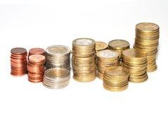 Geldeurostapel stockbild