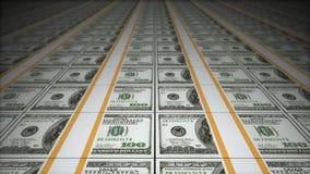 Geldförderer, Dollar lizenzfreie abbildung