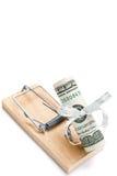 Geldfalle Stockfoto