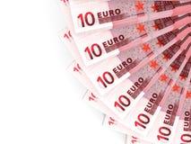 Geldfan 10 Euro Lizenzfreie Stockbilder