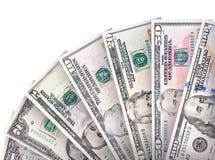 Geldfanhintergrund Lizenzfreie Stockfotos