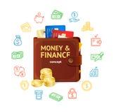 Geldfinanzkonzept Vektor Lizenzfreie Stockfotos