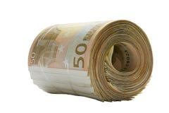 Geldfinanzquerneigungeuro Lizenzfreie Stockbilder