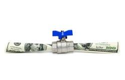 Geldfließen Stockfotografie