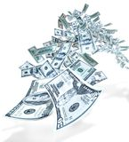 Geldflugwesen Stockbild