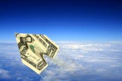 Geldflugzeug Lizenzfreie Stockfotografie