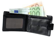 Geldgeldbeutel stockbild