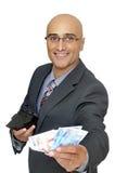 Geldgespräche lizenzfreie stockfotos