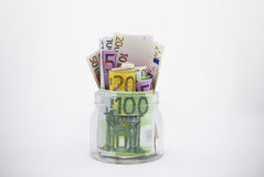 Geldglas Lizenzfreies Stockbild