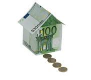 Geldhaus und Münzenpfad Lizenzfreies Stockfoto