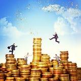 Geldherausforderung Lizenzfreie Stockfotos