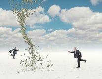 Geldherausforderung Stockbild
