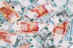 Geldhintergrund (Russland) Stockfotografie