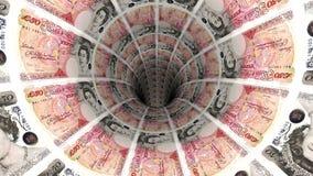 Geldhintergrund vom britischen Pfund Lizenzfreie Stockbilder