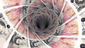 Geldhintergrund vom britischen Pfund Stockfoto