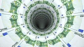 Geldhintergrund vom Euro Lizenzfreie Stockfotos