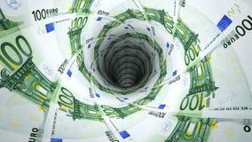 Geldhintergrund vom Euro Lizenzfreie Stockfotografie