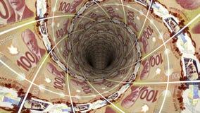 Geldhintergrund vom kanadischen Dollar Stockfotografie