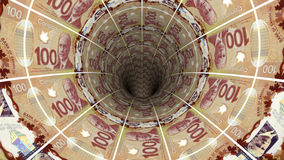 Geldhintergrund vom kanadischen Dollar Lizenzfreies Stockbild