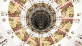 Geldhintergrund vom russischen Rubel Stockfotografie