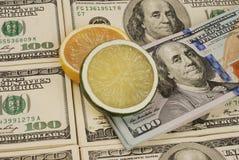 Geldhintergrund von den Dollar USA Stockbild