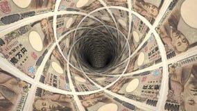 Geldhintergrund von den japanischen Yen Lizenzfreie Stockfotografie