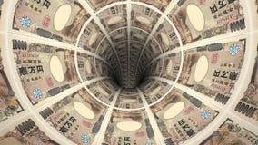 Geldhintergrund von den japanischen Yen Lizenzfreies Stockfoto