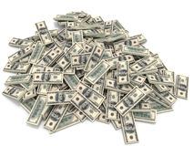 Geldhoop Honderd dollars Royalty-vrije Stock Foto