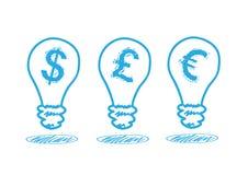 Geldikone in der Lampe Lizenzfreies Stockfoto