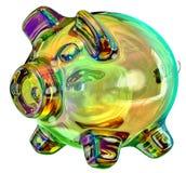 Geldkasten - piggy Querneigung Stockbild