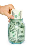 Geldkonzept. Dollar Stockbild