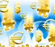 Geldkonzepthintergrund Stockfotos