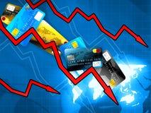 Geldkrisenkonzept Lizenzfreie Stockbilder