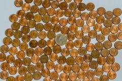 Geldmünzen Stockbild