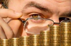 Geldmarkt der Analyse. Lizenzfreie Stockbilder