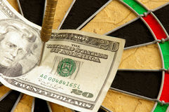 Geldmarktrisico's royalty-vrije stock afbeelding