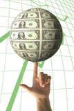 Geldmengenwachstum Stockfotos