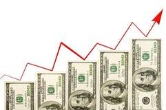 Geldmengenwachstum Stockfoto