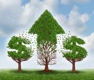 Geldmengenwachstum lizenzfreie abbildung