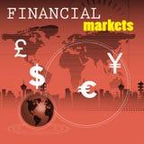 Geldmärkte Stockfoto