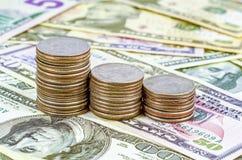 Geldmuntstukken Royalty-vrije Stock Foto's