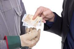 Geldoverdracht Royalty-vrije Stock Afbeelding