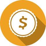 Geldpictogram - dollarteken Vector illustratie Royalty-vrije Stock Fotografie