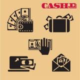 Geldpictogrammen cash vector illustratie