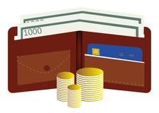 Geldportefeuille Royalty-vrije Stock Afbeeldingen