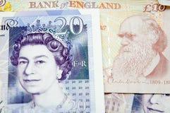 Geldportretten royalty-vrije stock afbeeldingen
