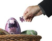 Geldpuzzlespielkonzept Lizenzfreies Stockfoto