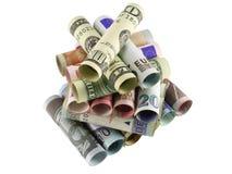 Geldpyramide lizenzfreie stockbilder