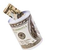 Geldquerneigung Stockbild